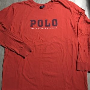 Vintage Polo Ralph Lauren Script Long Sleeve XXL